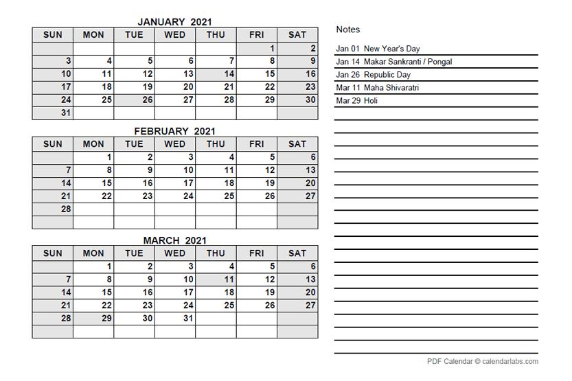 Printable Calendar Quarterly 2021 - Calendar April May ...
